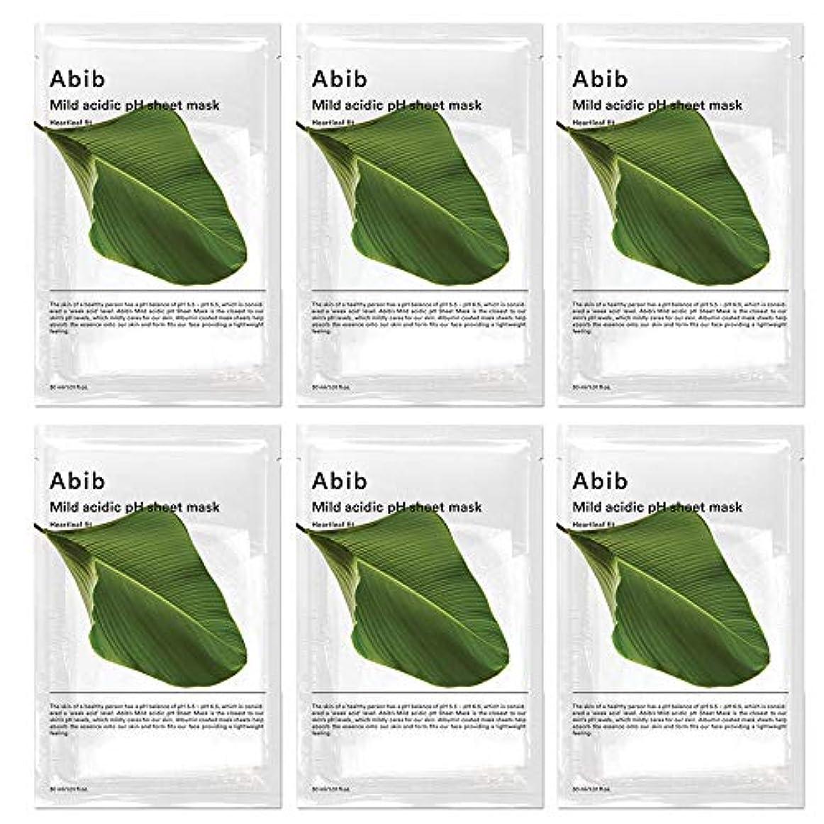 登場集団飛ぶABIB MILD ACIDIC pH SHEET MASK_ HEARTLEAF FIT/弱酸性phシートマスク ドクダミフィット(10枚)日本国内発送