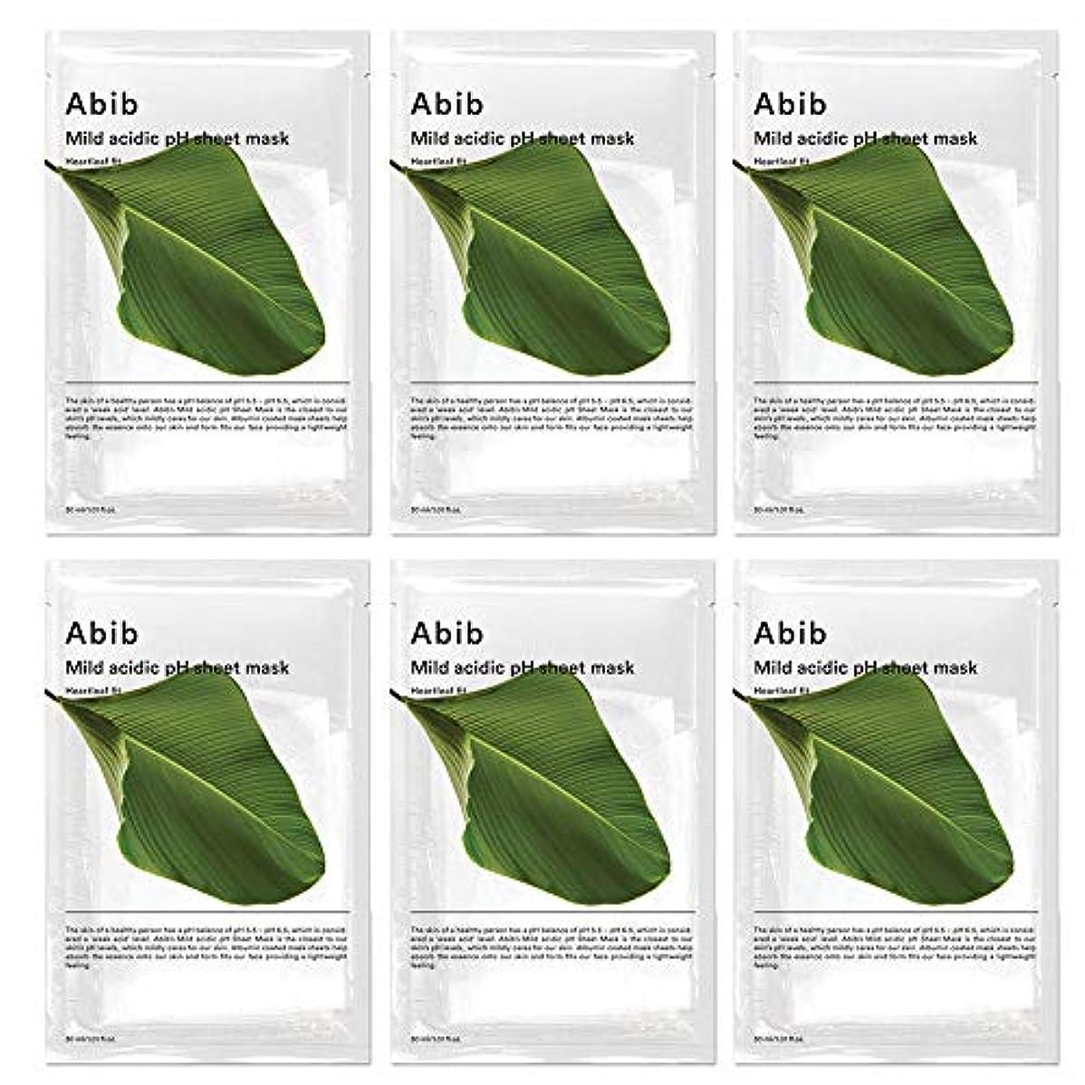 ファン恐ろしいです通知するABIB MILD ACIDIC pH SHEET MASK_ HEARTLEAF FIT/弱酸性phシートマスク ドクダミフィット(10枚)日本国内発送