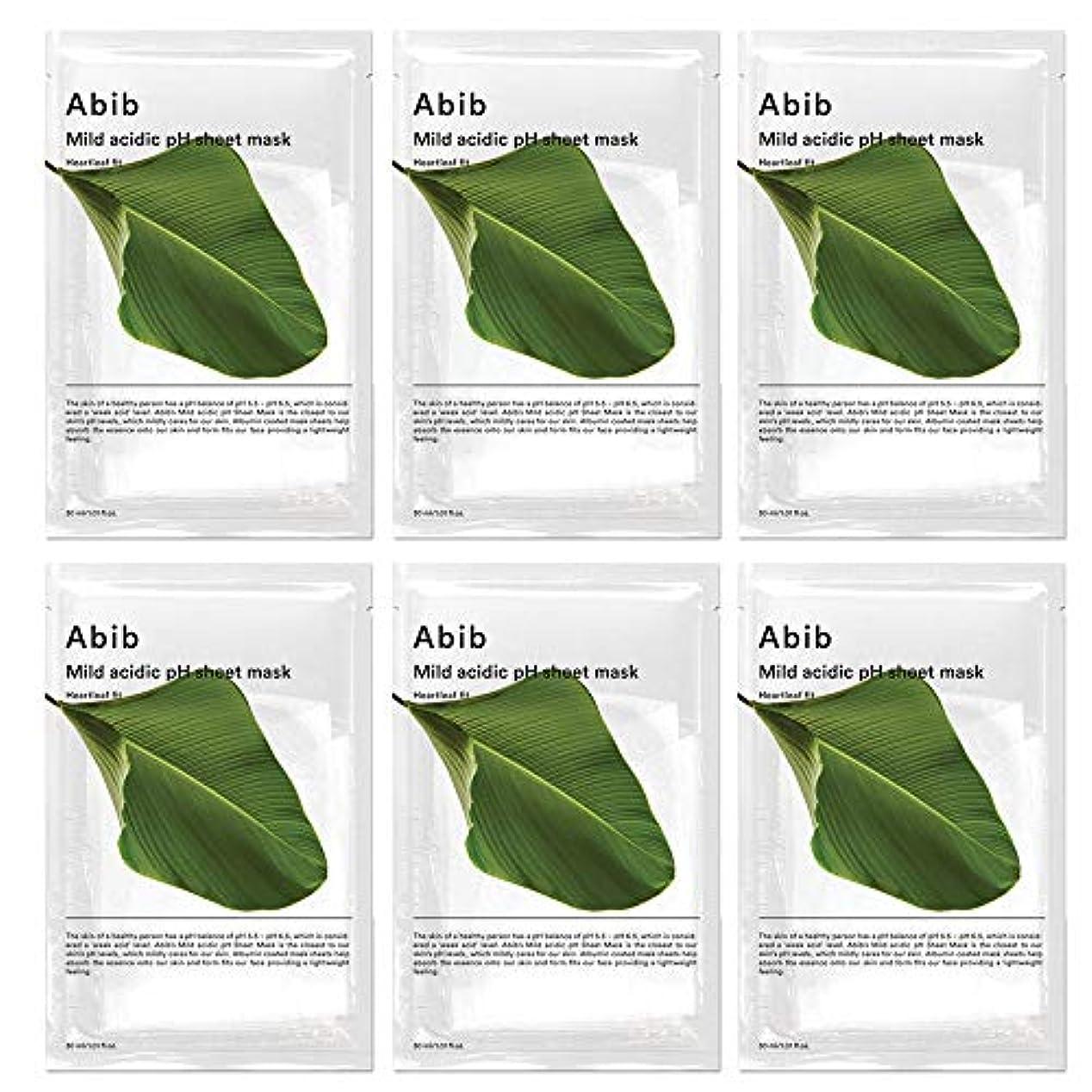 スローガン意気揚々文庫本ABIB MILD ACIDIC pH SHEET MASK_ HEARTLEAF FIT/弱酸性phシートマスク ドクダミフィット(10枚)日本国内発送