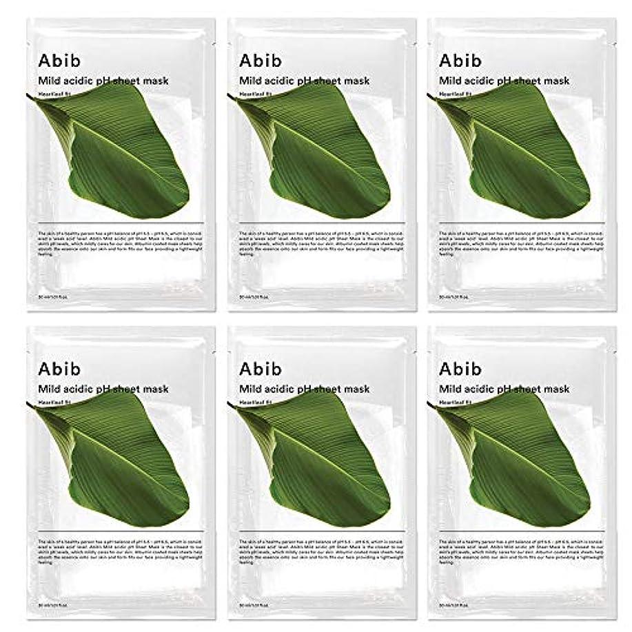 リング一般的に言えば汚れるABIB MILD ACIDIC pH SHEET MASK_ HEARTLEAF FIT/弱酸性phシートマスク ドクダミフィット(10枚)日本国内発送