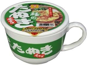 カネミ美和 マルちゃん緑のたぬき 蓋付きマグカップ