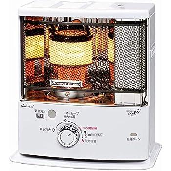 トヨトミ 石油ストーブ ダブルクリーン (木造7畳まで/コンクリート10畳まで) 日本製 ホワイト RC-S280(W)