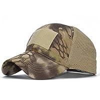 野球帽 メンズ アーミーグリーン アウトドア スポーツ 余暇 カモフラージュネット キャップ, ファッション帽子 ファッションハット (色 : 緑)