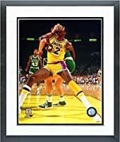"Larry Bird & Magic Johnson NBA Action Photo (Size: 26.5"" x 30.5"") Framed"