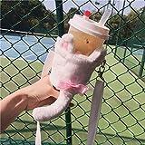 ドリンクバッグ タピオカ Inlagom 水筒ケース 水筒カバー ショルダーバッグ 持ち運び 保冷 保温 調整可能 可愛い タピオカミルクティー 猫