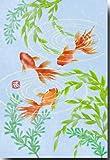 夏のイラストポストカード 「金魚」 日本の風景 絵葉書 暑中見舞い