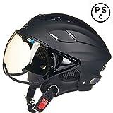 バイク ヘルメット ジェットヘルメット 夏用バイクウェア システムヘルメット 軽便 通気 安全性高 11色 フリーサイズ「PSCマーク付き」 (商品1)