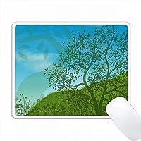 樹木の日のための丘の上の青い空と木々 PC Mouse Pad パソコン マウスパッド