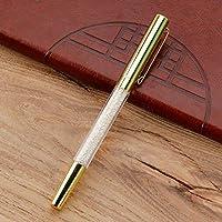 ACHICOO ゲルペン メタル クリスタル シグネチャーペン オフィス 文房具 マルチカラー 繊細なペン ギフト 模造ゴールド