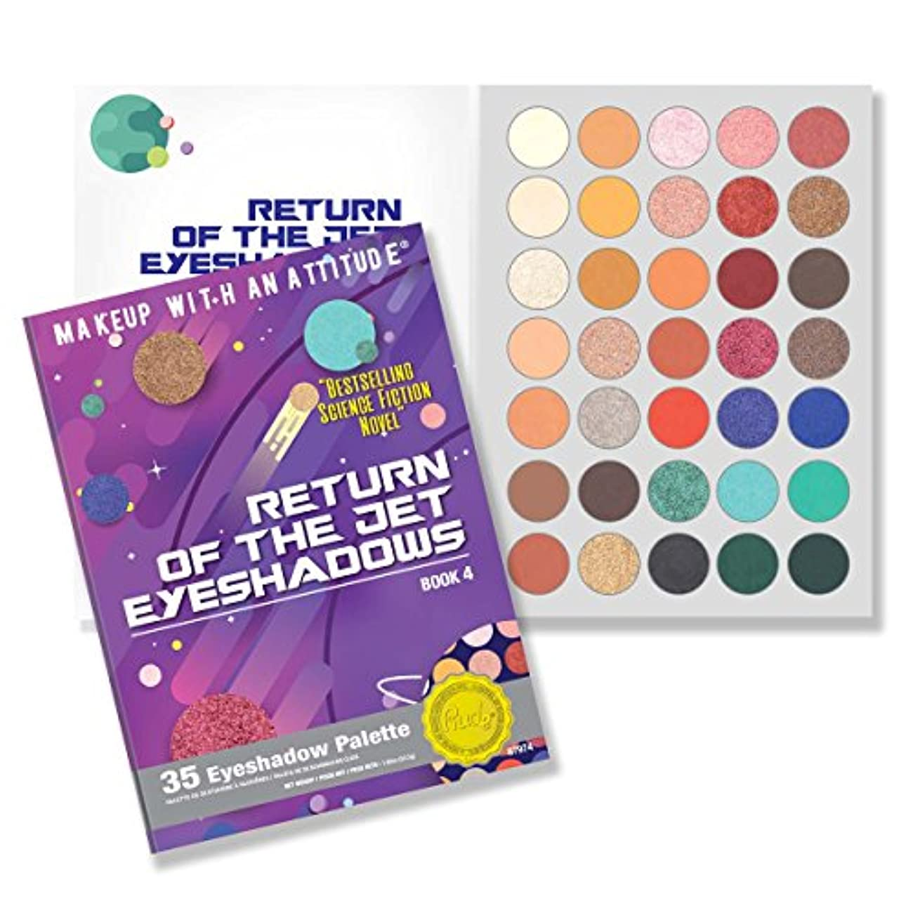 ティッシュマラソン嵐(6 Pack) RUDE Return Of The Jet Eyeshadows 35 Eyeshadow Palette - Book 4 (並行輸入品)