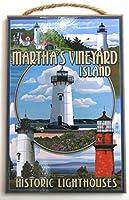 Martha 's Vineyard、壁の装飾、CSPE cod、10' x7' Wood Wall Plaque ' with灯台、ケープcod。