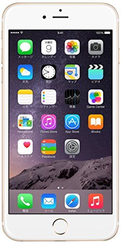 Apple iPhone 6 Plus 64GB ゴールド 【au 白ロム】MGAK2J