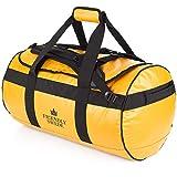 北欧「The Friendly Swede」 ダッフルバッグ 耐水 ボストンバッグ スポーツバッグ 旅行バッグ 旅行カバン メンズ レディース スポーツ ジムバッグ 3way 大容量 ブランド (イエロー 60L)