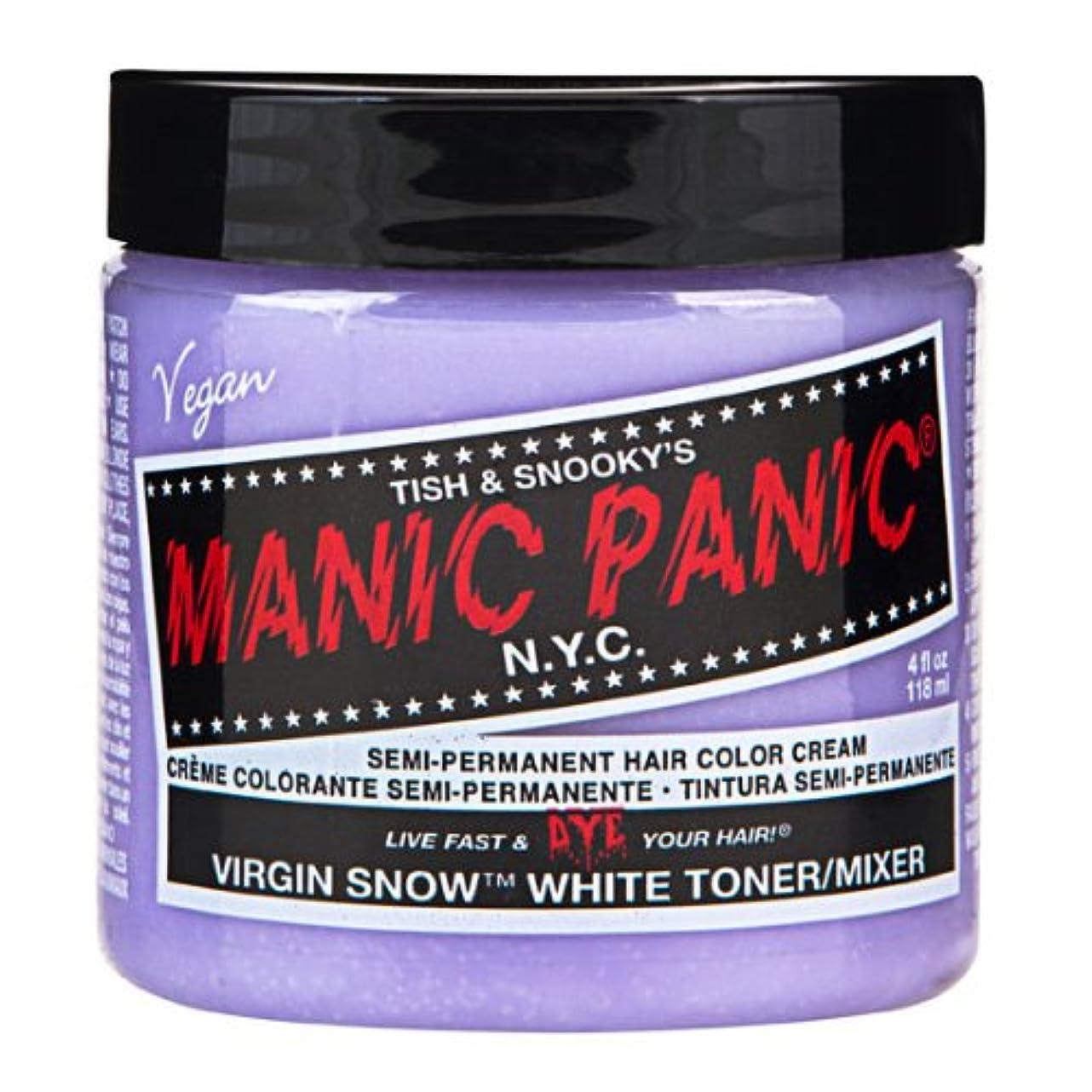 安定したナット乏しいスペシャルセットMANIC PANICマニックパニック:Virgin Snow (ヴァージン?スノー)+ヘアカラーケア4点セット
