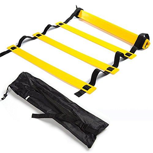トレーニングラダー 6m 12枚 LeHom 連結可能 スピードラダー 野球 サッカー テニス 練習 調節可能 敏捷性 瞬発力 柔軟性 アップ 収納袋付き