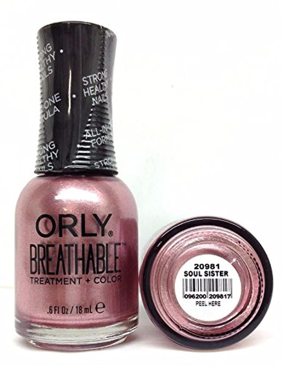 発行田舎ねばねばOrly Breathable Nail Lacquer - Treatment + Color - Soul Sister - 0.6 oz / 18 mL
