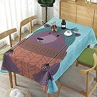"""長方形のテーブルクロス、家の装飾3Dデジタル印刷防水テーブルクロス (色 : Bear, サイズ さいず : 39""""X55"""")"""