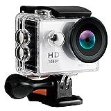 LEVIN アクションカメラ 防水 WiFi搭載 12MP フルHD 1080P高画質 170度広角レンズ 2.0インチLCD バッテリー2個&豊富な付属品付き ウェアラブルカメラ アクションカム 水中カメラ スポーツカメラ GoPro ゴープロ シルバー