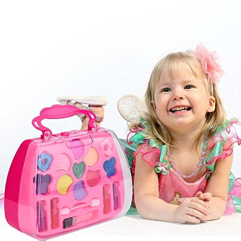 Rong ハロウィン プリンセス 女の子 ごっこ遊び デラックスメイクアップパレットセット 非毒性 子供用 A ブラック aaa