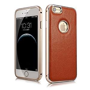 iPhone 6 Plus/6S Plus 専用 本革採用 アルミフレーム+レザージャケットケース(MIPS-6011BN)