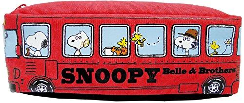 スヌーピー ペンケース バス型 ペンポーチ レッド 535808