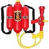 夏の砂浜に水鉄砲 バックパックの水鉄砲 子供のウォーターガン 高圧抽式水遊び式 リュックサック式 キッズ 可愛い 水遊びおもちゃ