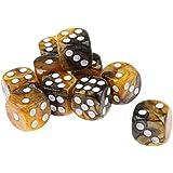 Perfk 10個 耐用性 アクリル ダイス 骰子 MTG RPGゲーム用 アクセサリー 全6選択 - スタイル5