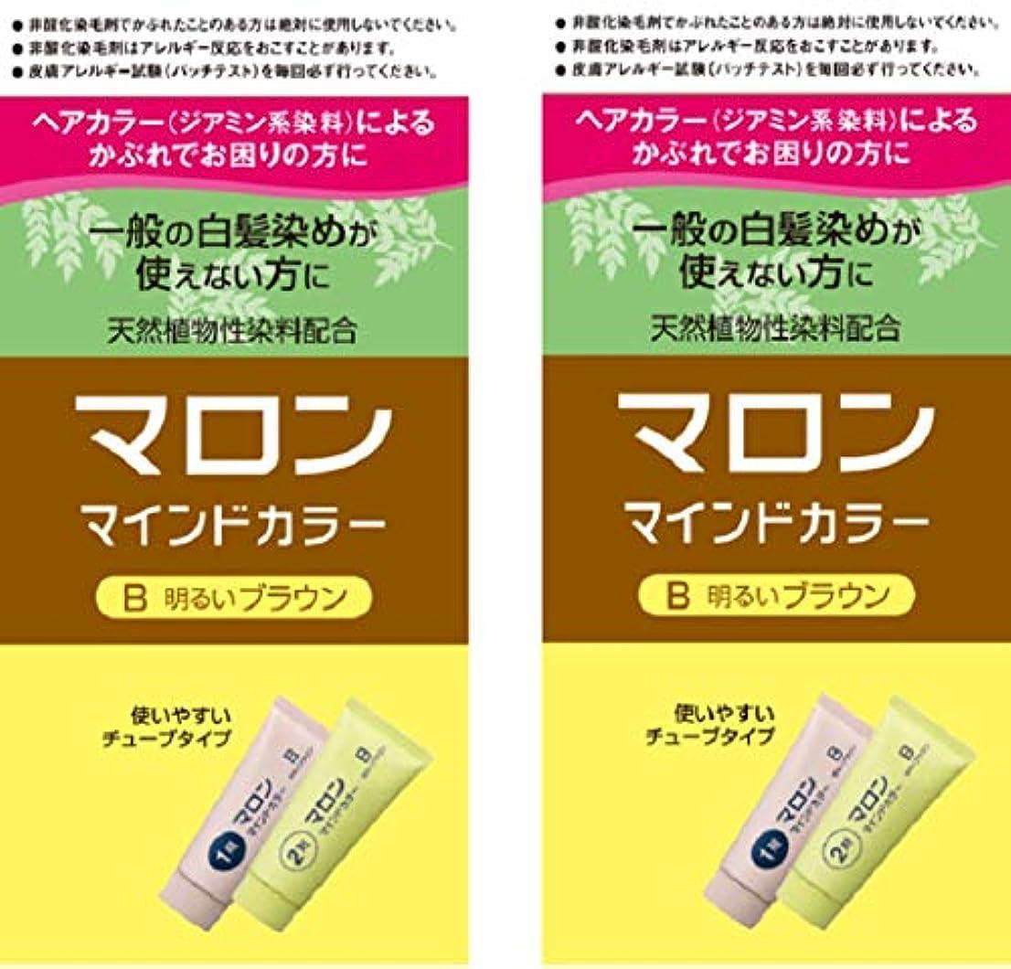 抵抗力があることわざ投獄【Amazon.co.jp限定】 マロンマインドカラーB明るいブラウン 2個パックおまけ付き[医薬部外品] ヘアカラー セット (70g+70g)×2+おまけ