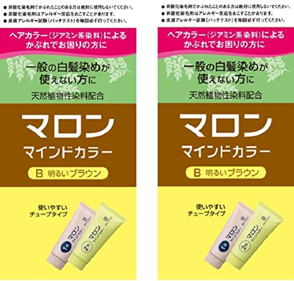 モチーフペデスタル命令的【Amazon.co.jp限定】 マロンマインドカラーB明るいブラウン 2個パックおまけ付き[医薬部外品] ヘアカラー セット (70g+70g)×2+おまけ