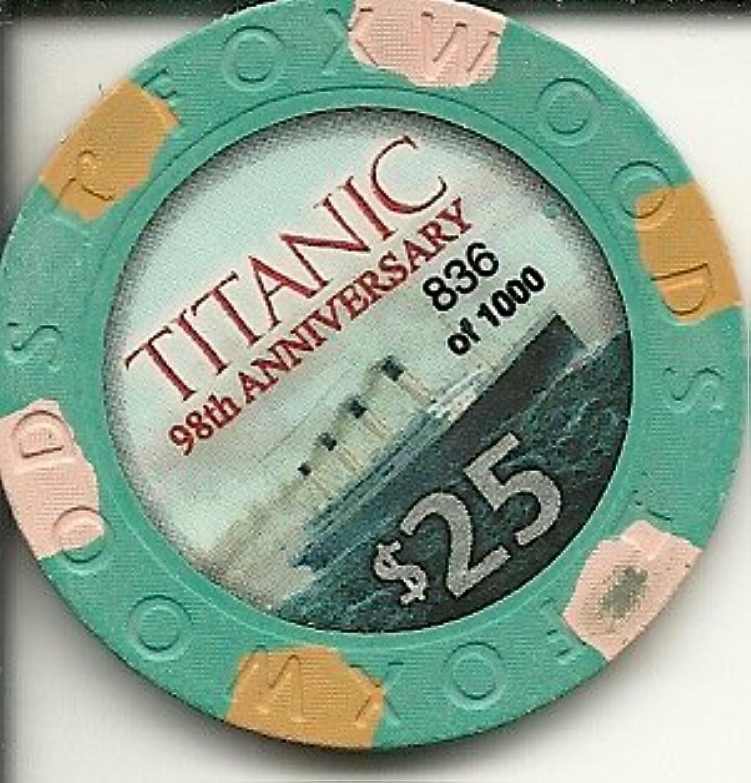 $ 25 FoxwoodsタイタニックSuper Rareカジノチップ