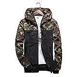 防風 登山メンズ 軽量 迷彩 ジャケット メンズ ナイロンジャケット パーレジャーファッション アウトドア メンズ アーミーグリーン-L