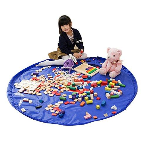 おもちゃストレージバッグ–Drawstringバックパックfor LEGO、子供としてUnfolds Play Mat Ourdoor