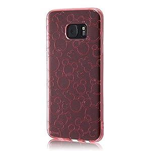 レイ・アウト Galaxy S7 edge ケース ディズニー TPUソフトケース キラキラ ピンク RT-DGS7EA/MFP