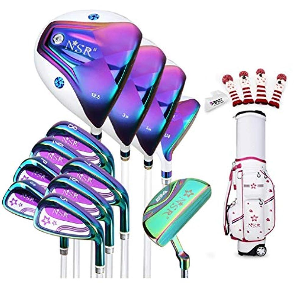 とげのあるそのような顎伸縮バッグパッケージにゴルフクラブの女性のフルセット(12個)3ウッドを含む、ミックス、5-PWアイアン(通常サイズ) (Size : Carbon rod)