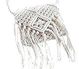 (ルビタス) rubitas マクラメ 編込み バッグ ショルダー バック 編み カバン 鞄 (白)