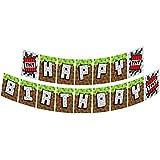 ブルー果樹園?マイニングFun TNT Jointedバナー、Mining楽しいパーティーSupplies、Mining楽しい誕生日バナー