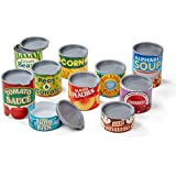 """Melissa & Doug Let'S Play House! Grocery Cans Pretend Play Pop Off Lids Sturdy Cardboard Construction 10 Cans 13"""" H X 5"""" W X 2.75"""" L"""