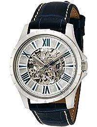 Furbo Design腕時計自動巻きf5021シルバー文字盤ネイビー革f5021ssiblメンズ