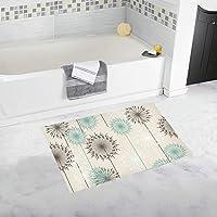 DMHYJ バスマット たんぽぽ 足ふきマット 風呂 浴室 台所 キッチン 廊下 玄関 マット 吸水 速乾 ソフト 滑り止め 柔らかい