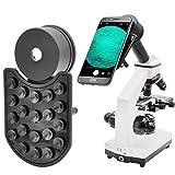 AOPWELL 顕微鏡 スマホアダプター iPhoneのソニーサムスンモト用など デュアルカメラスマートフォン用アダプター 顕微鏡に接続して写真を撮る