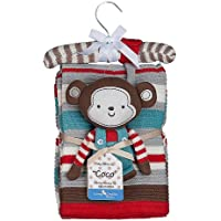Lolli Living Knitted Blanket & Rattle (Coco Monkey) by Lolli Living