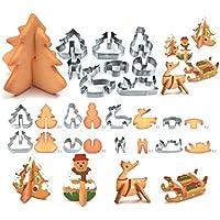 8個セント ステンレス ケーキ型 製菓用デコレーションツール クリスマスツリー クリスマスの雪人 DIYクッキー型