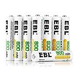 EBL 充電式ニッケル水素電池 単4形 12個入 ケース付き(容量800mAh、約1200回使用可能)