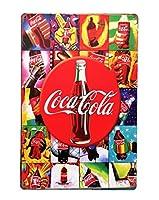 【アメリカンアメリカン大阪】ブリキ看板 コカコーラ COCA-COLA コーラ瓶 レインボー カラフル 派手