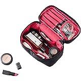 NKTM 化粧ポーチ コスメポーチ メイクポーチ 大容量 バニティポーチ 機能的 小物入れ 化粧道具 旅行 (ブランク)