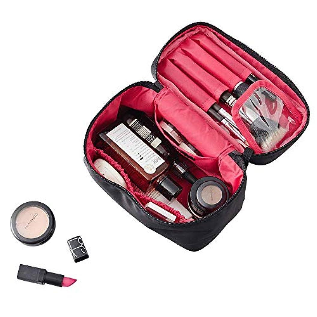 毒司書論争的NKTM 化粧ポーチ コスメポーチ メイクポーチ 大容量 バニティポーチ 機能的 小物入れ 化粧道具 旅行 (ブランク)