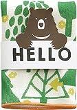 現代百貨 HELLO BEAR タオルハンカチ フォレスト グリーン 日本製 A293FO 086540