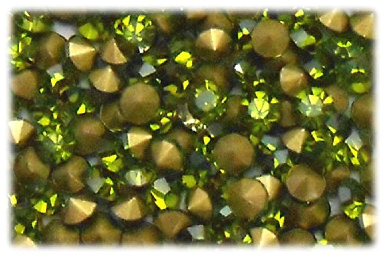 デイジー観察する性的SHAREKI CRYSTAL Vカット (チャトン) ラインストーン オリーブ(カーキ) SS3(144個入り)~SS39(15個入り) (SS10)