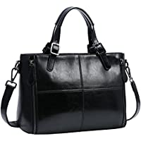 On Clearance! Kenoor Women Leather Top Handle Handbags Shoulder Bags Tote Satchel Crossbody Bag
