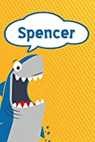 "Spencer: Personalized Shark Draw and Write Diary journal notebook featuring 120 pages 6""x9"""